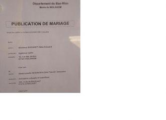 La publication des bans elvire et gilles mariage le 7 juillet 2007 - Publication banc mariage ...