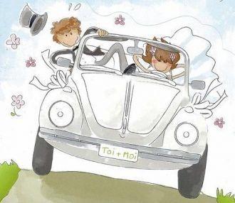 Blog mariage lolita et frederic mariage le 19 juin 2010 - Dessin voiture mariage ...